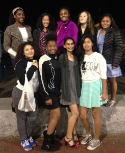The team outside the Aquarium. From left to right: Joetta Francis,