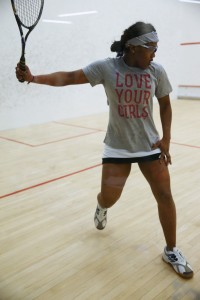 SquashBusters GU19 team represented girl power, in this photo is No. 2 Miasia Kemp