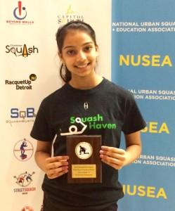 GU15 winner Krishna Patel from Squash Haven