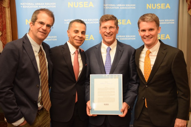 From left to right: Greg Zaff, NUSEA Board Chair Amrit Kanwall, Bill Simon, and NUSEA Executive Director Tim Wyant