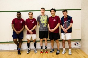 StreetSquash Cup participants from left to right: Hakeem Elliot, Richard Chin, Chris Gordon, John Moon, Bill Vrattos