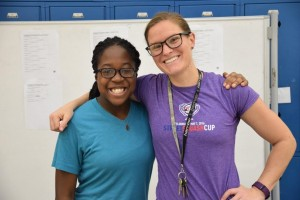 StreetSquash Harlem Tournament Director Katie Siegel and Cerina Shippey