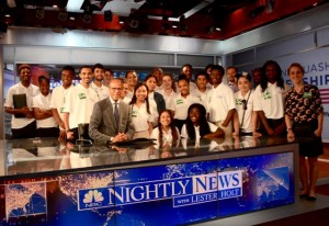 The Tour has a tour at NBC Nightly News with lead anchor Lester Holt