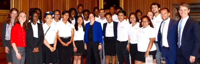 The Urban Squash Citizenship Tour meets with Supreme Court Justice Elena Kagan