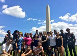The Tour gets out to see the sites in Washington D.C.